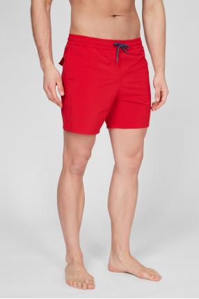 Мужские красные плавательные шорты 1