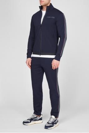 Мужской темно-синий спортивный костюм (кофта, брюки) 1