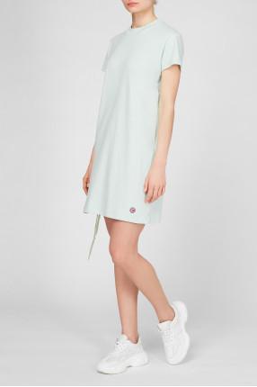 Женское мятное платье 1