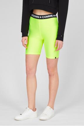 Женские желтые велосипедные шорты 1