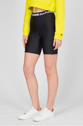 Женские черные велосипедные шорты 1