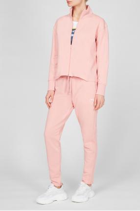 Женский розовый спортивный костюм (кофта, брюки) 1