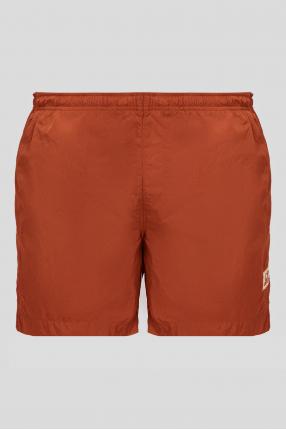 Мужские рыжие плавательные шорты