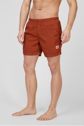 Мужские рыжие плавательные шорты 1