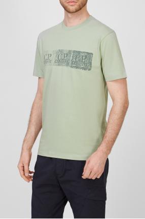 Мужская салатовая футболка 1