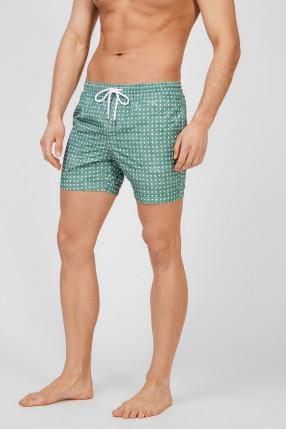 Мужские зеленые плавательные шорты 1