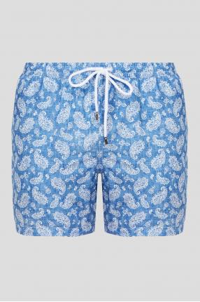 Мужские светло-синие плавательные шорты