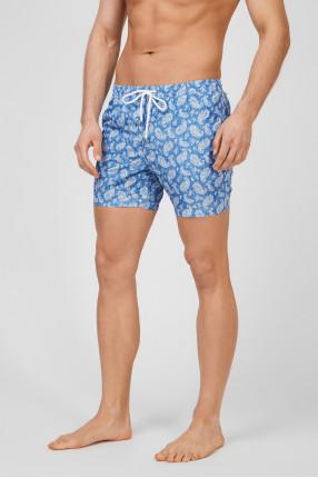 Мужские светло-синие плавательные шорты 1
