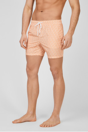 Мужские оранжевые плавательные шорты 1