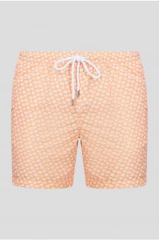 Мужские оранжевые плавательные шорты