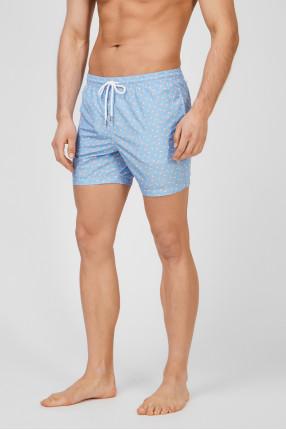 Мужские голубые плавательные шорты 1