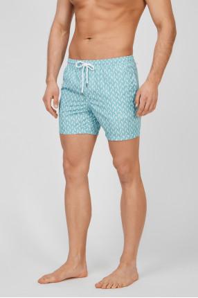 Мужские бирюзовые плавательные шорты 1