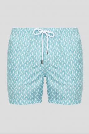 Мужские бирюзовые плавательные шорты