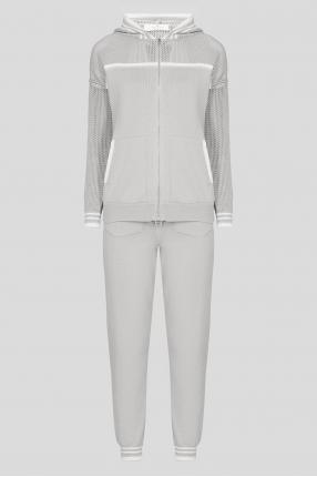Жіночий сірий спортивний костюм (худі, штани)