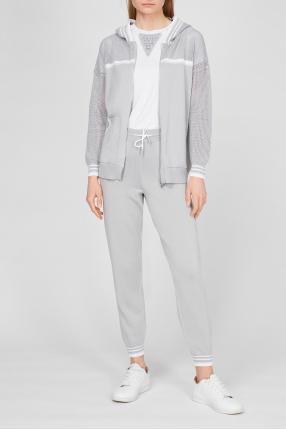 Женский серый спортивный костюм (худи, брюки) 1