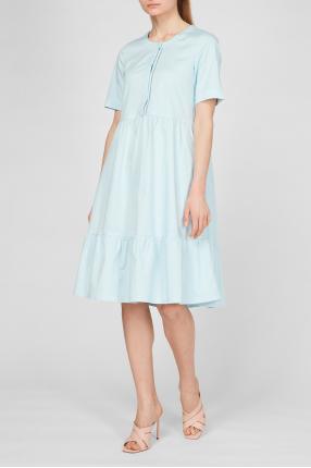 Женское голубое платье 1
