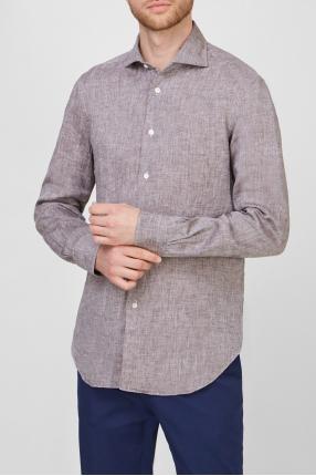 Чоловіча сіра лляна сорочка 1