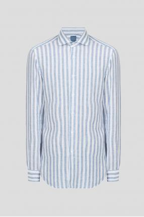 Чоловіча лляна сорочка у смужку