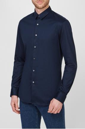 Чоловіча темно-синя сорочка 1
