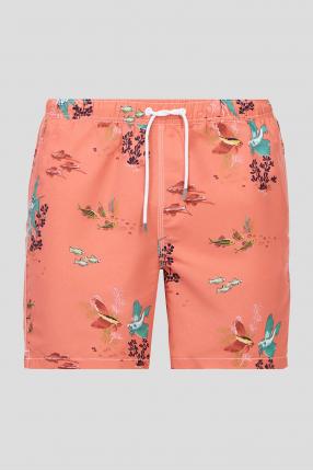 Мужские коралловые плавательные шорты