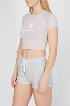 Женская пудровая футболка NB Athletics Podium 1
