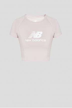 Женская пудровая футболка NB Athletics Podium
