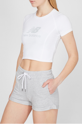 Женская белая футболка NB Athletics Podium 1