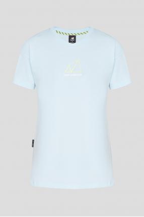 Женская голубая футболка NB All Terrain