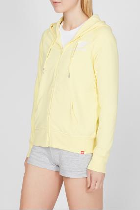 Женское желтое худи NB Essentials FZ 1