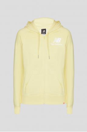Женское желтое худи NB Essentials FZ