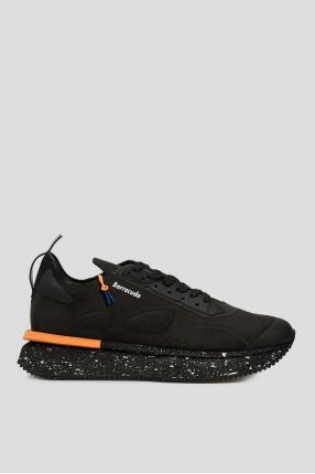 Мужские черные замшевые кроссовки