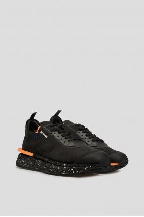 Мужские черные замшевые кроссовки 1