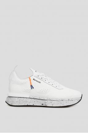 Мужские белые замшевые кроссовки