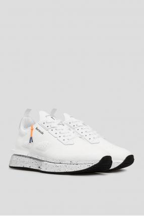 Мужские белые замшевые кроссовки 1