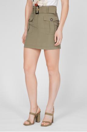 Женская оливковая юбка 1