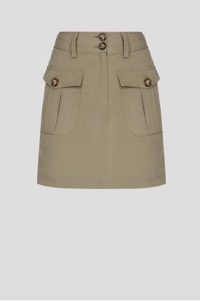 Женская оливковая юбка