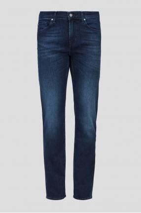 Мужские темно-синие джинсы