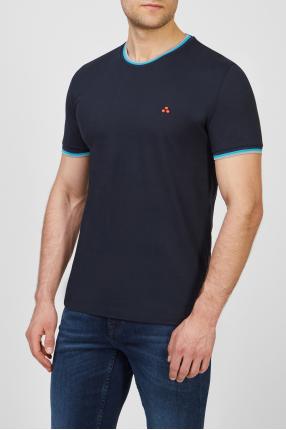 Мужская темно-синяя футболка 1