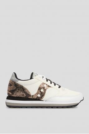 Женские белые кожаные кроссовки Jazz Triple
