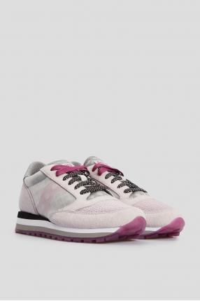 Женские светло-розовые замшевые кроссовки Jazz Triple 1