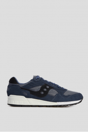 Мужские синие замшевые кроссовки Shadow 5001
