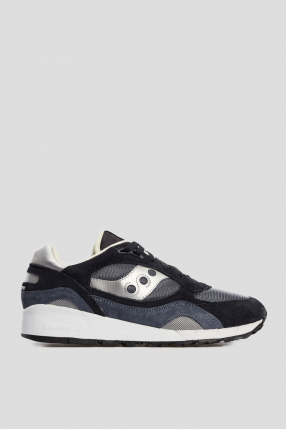 Мужские синие замшевые кроссовки Shadow 6000
