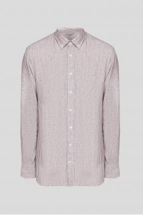 Чоловіча лляна сорочка у смужку Button Down