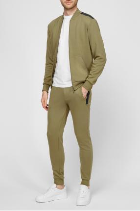 Мужской зеленый спортивный костюм (кофта, брюки) 1