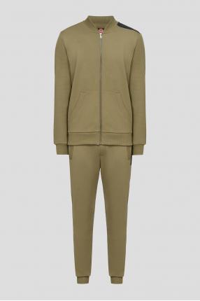 Мужской зеленый спортивный костюм (кофта, брюки)