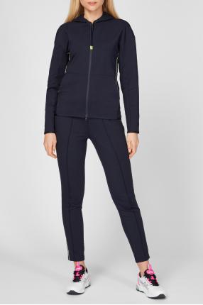 Жіночий темно-синій спортивний костюм (худі, штани) 1