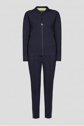 Жіночий темно-синій спортивний костюм (худі, штани)
