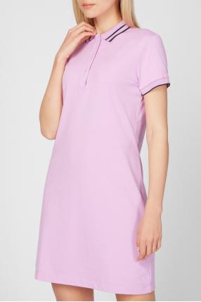 Женское сиреневое платье 1