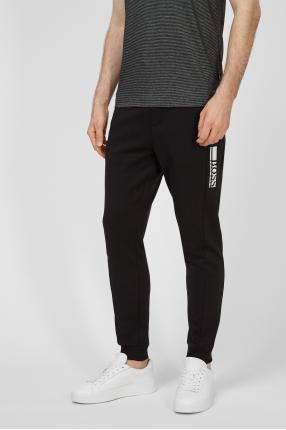 Чоловічі чорні спортивні штани 1