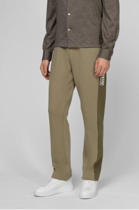 Чоловічі оливкові спортивні брюки 1